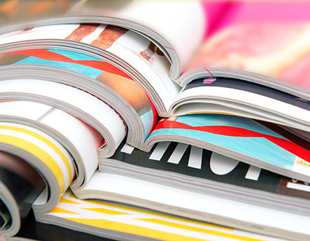 Magazines/coffee table books